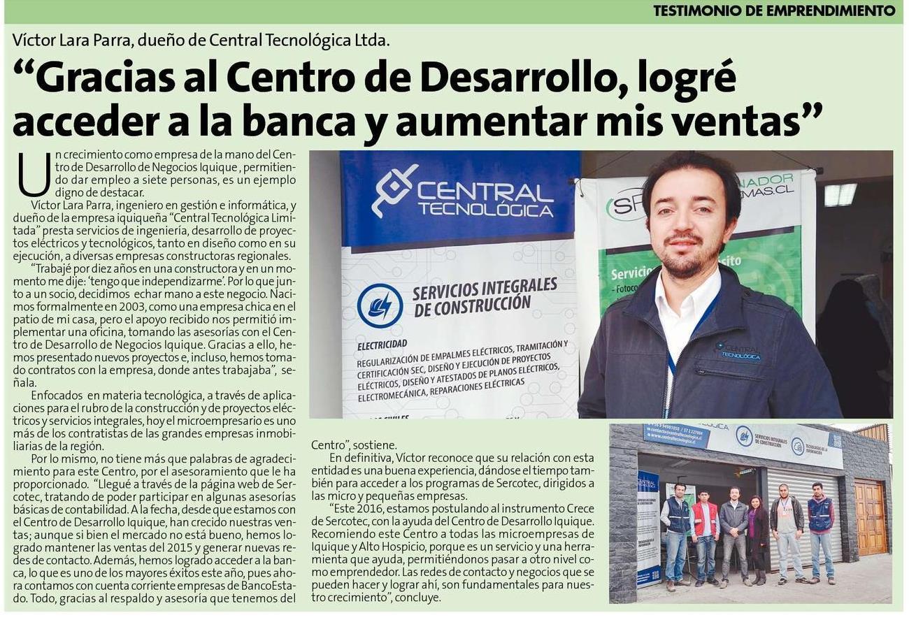 Articulo diario La estrella de Iquique