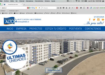 "Sitio Web ""Inmobiliaria del Alto"""