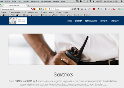 "Sitio Web ""Foxtrot Seguridad"""