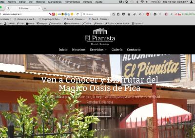 """Sitio Web """"El Pianista de Pica"""""""