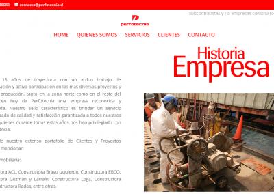 Sitio web – Perfotecnia, Iquique