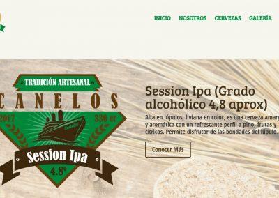 Sitio web – Cerveceria Canelos